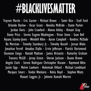 black lives names